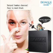 BIOAQUA Natural Black Bamboo Charcoal Soap Face and Body Bath Soap For Acne and Removing Blackheads 100g(China)