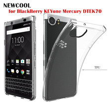 Soft TPU Transparent Silicone Clear Case Cover for BlackBerry KEYone key one Mercury DTEK70 Phone case