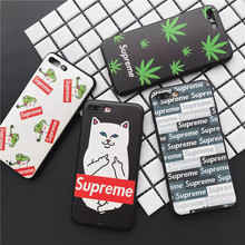 Latest Fashion Leaves the frog cat Case for iPhone7 7Plus Soft TPU silicone SP series class iPhone6 6S 6Plus Back Cover Shell