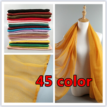45 color plain viscose scarf women muslim hijab scarf shawls and wraps solid pareo beach cover muslim scarves/scarf 10pcs/lot