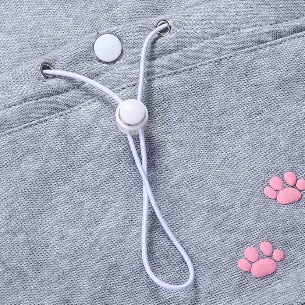 17 New Cartoon Hooded Hoodies Lover Cats Kangaroo Dog Hoodie Long Sleeve Sweatshirt Front Pocket Casual Animal Ear Hoodie 59