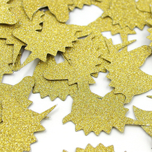 Nicro 20g/Pack Unicorn Paper Confetti Double Gold Glitter For Party Table Scatter Decoration DIY Easter Party Supplies