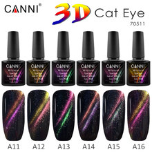 Factory Price Magnetic Starry Sky Cat Eye Gel CANNI New Product Fashion UV & LED Soak off Cat Eye Nail Gel Polish(China)