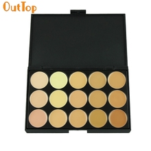 OutTop Love Beauty Female   1pc Professional 15 Concealer Camouflage Foundation Makeup Palette 160920 Drop Shipping