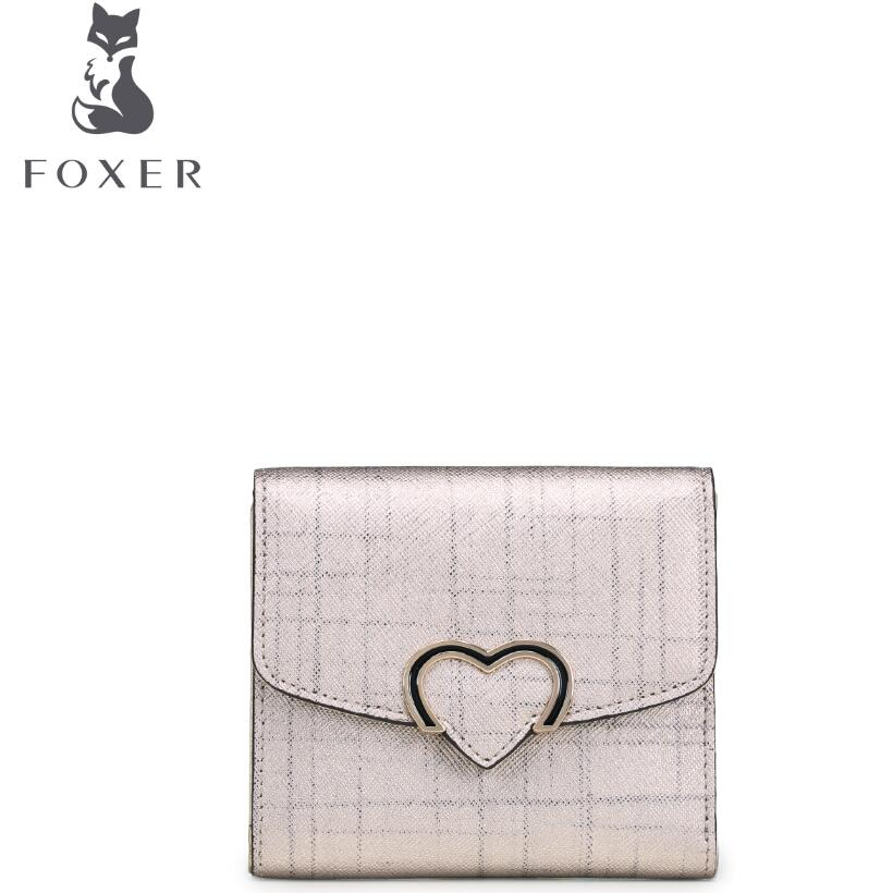 FOXER2017 new luxury fashion high-grade leather casual short wallet purse brand-name products 100% high-quality women well-known<br>