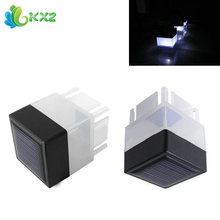 Solar Power Energy LED Light Outdoor Fence Post Cap Light Garden Yard Street Path Pathway Security Decoration Night Lamp