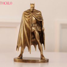 2 Types 1PCS Imitation Copper 20cm Resin DC Comics Batman Action Figures Models Toy Car Decoration Kids Gifts(China)
