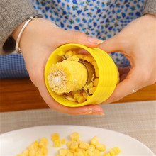 1PC Creative Home Gadgets Corn Stripper Cob Cutter Remove Kitchen Accessories Cooking Tools QB896213(China)