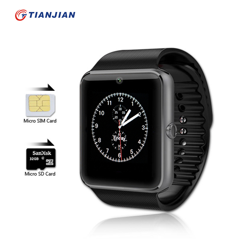 Smartwatch GT08 Bluetooth Electronics Phone Camera Smart Watch Android Health MP3 Player Waterproof Watches SIM Card Sport Clock<br><br>Aliexpress