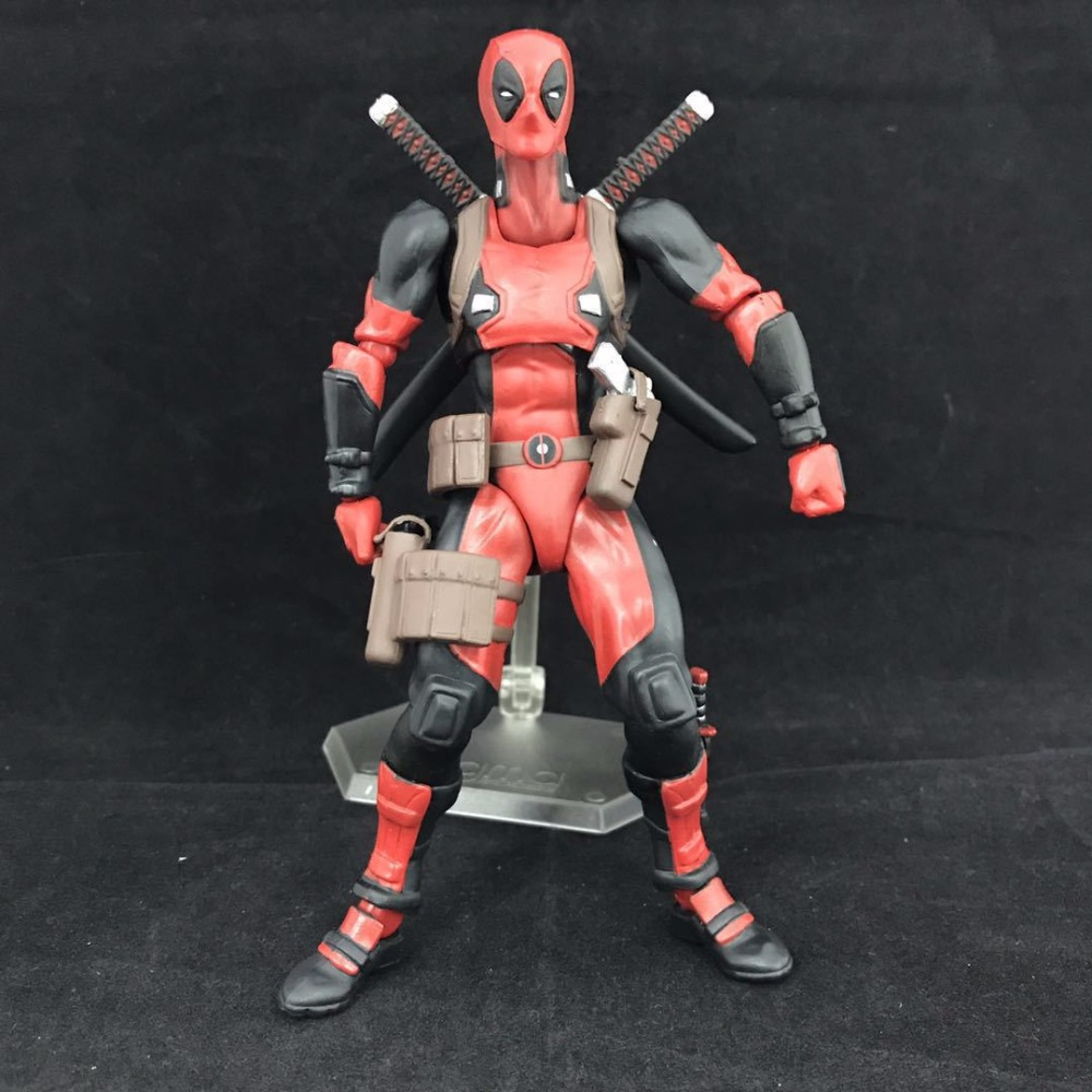 Free Shipping Cute 6.5 The X-MEN Deadpool 2 Moveable Figma EX-042 Boxed 16.5cm PVC Action Figure Collection Modle Doll Toy Gift<br>