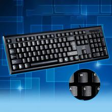 Office USB Wire Waterproof Keyboard SUPER Slim Q9 USB Ergonomic Design Wired Keyboards 107Keys Gaming Keyboard(China)