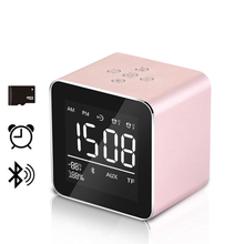 Mini Desktop Bluetooth Speaker Portable Wireless with Alarm Clock Microphone BT3.0 Support Micro SD Card for Phone(China)