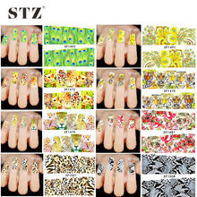 48Sheets Mixed Animal Series Leopard/Tiger/Peacock Decals Nail Art Sticker Water Transfer Sexy Full Wraps XF1470-1517
