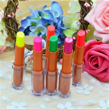 Bar KTV Night Games Shop Colorful Luminous Fluorescent Emission Lipstick Lip Gloss Make up maquiagem labiales batom bala(China)