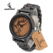 BOBO BIRD N01 Male Wooden Wristwatches New Antique Luxury Fashion Uomo Orologio Japan Quartz Movement Watches in Gift Box