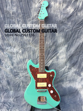 Jazzmaster deluxe Jaguar Electric guitar,S-P90 pickups,color of the green sea,All color Available,Real photo showing,free ship!(China)