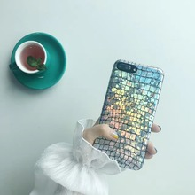 New Arrival Laser Reflect Colorful Crocodile Skin Style Phone case for iPhone 7 7plus 6 6s plus