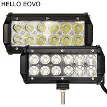 HELLO EOVO 2pcs 7 Inch 36W LED Work Light Bar for Indicators Motorcycle Driving Offroad Boat Car Tractor Truck 4x4 SUV ATV 12V(China)