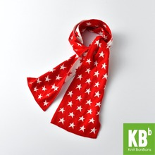 2017 KBB Spring Winter New Style Office Women Men Design Yarn Knit Warm Adult Fashion Lady Red White Star Scarf Scarves Wraps(China)