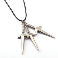 ORNAPEADIA Anime products hot selling Naruto new style NARUTO Shuriken pendant necklace ifne accessories wholesales(China)