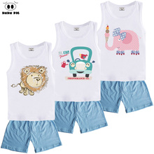 DMDM PIG Boutique Kids Sports Clothes Suit Boys Toddler Girls Clothing Sets Children's Baby Boy Girl Christmas Outfit 3 8 Years(China)