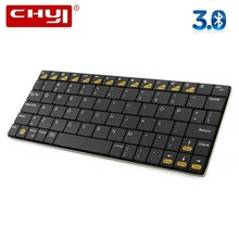 CHYI Wireless Keyboard Ergonomic Bluetooth 3.0 Micro USB Rechargeable Battery Mini Keypad Super Slim BT Teclado For PC Tablet(China)