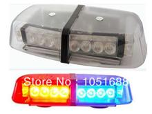 United Safe free shipping low profile GEN III 1 Watt high bright LED mini Lightbar(amber/blue/red/white)