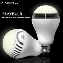 Mipow BTL100S 110V - 240V PLAYBULB Smart LED Blub Light Wireless Bluetooth Speaker Mobile Phone Lamp For iphone For Apple Device(China)