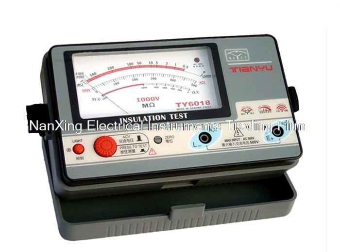 Fast arrival  TY6018 1000V insulation resistance meter,analog INSULATION TESTER,0.5-2000M.OHMS<br>