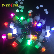 30pcs/Lot Colorful Led Lamps Waterproof Balloon Lights For Paper Lantern Party Wedding Decoration Submersible Led Vase Light