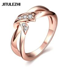 Gold-color wedding rings for lovers blue/red/purple stone bague femme jewelry jewelry  color beauty ring