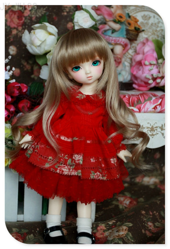 Synthetic BJD WIG Long Wavy  Wig/Hair For 1/3 24/60CM BJD SD DD LUTS Doll Dollfie Cut Fringe<br><br>Aliexpress