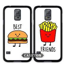 Burger And Fries Best Friends BFF Case For Galaxy S7 S6 Edge Plus S5 S4 Active S3 mini Win Note 5 4 3 A7 A5 Core 2 Ace 4 3 Mega