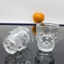 Delicate Kitchen Cocktail Glass Cup Skull Glass Bottle 4pcs Set Shot Glass Creative design drinking glass BS