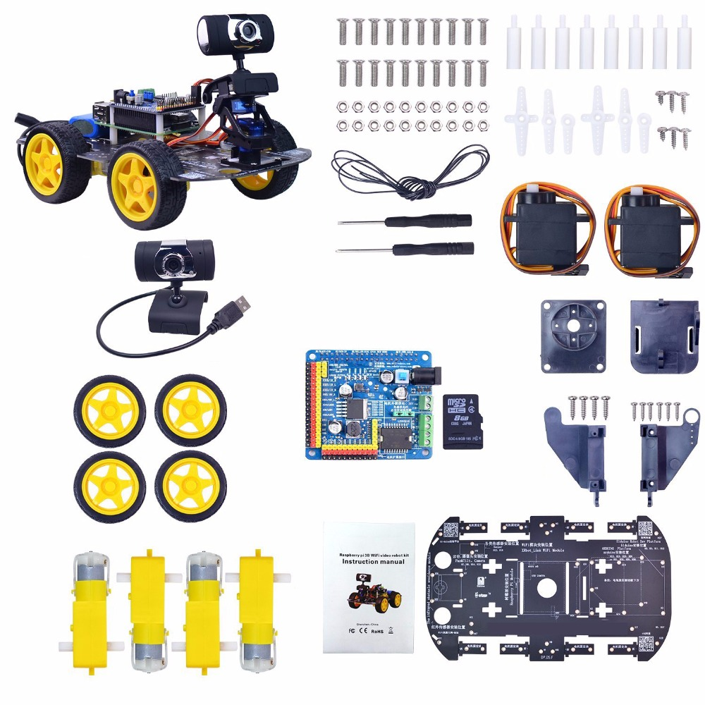 UniHobby DS Wireless Wifi Robot Car Kit for Raspberry Pi (without battery)