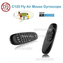 C120 Fly Air Mouse Gyroscope USB receiver 6 Axis Sensor Air Mouse for Smart Tv Box 2.4G Wireless Remote Control Game Keyboard(China)
