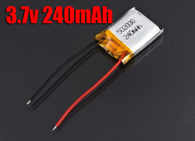 10 pcs/lot 3.7v 240mAh LiPo Battery  for SH 6020 Mini 3CH 3.5CH  RC Helicopter toy sports