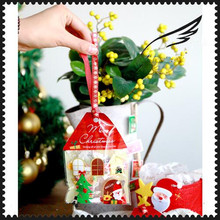 Christmas Tree Cookike Bag House Type Gift Packaging for Cookies Self Adhesive Candy Plastic Bag