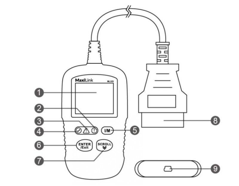 Auto Diagnostic Code reader original Autel MaxiLink ML329 OBD2 Code Scan Tool update version autel al319 car auto scanner