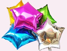 High Quality Of 10 inches Birthday party Decoration Wedding Advertising Polygon Aluminum Foil Balloon 50Pcs/lot(China)