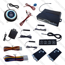 Universal PKE Car Alarm System Push Start Remote Start Stop Engine With Password Keypad Turn On/Off PKE Function With LED Light(China)