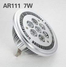Free shipping sale AC85-265V AR111 7W led spotlight bulb,2 year warranty,7*1W ED lamp(China)