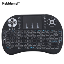Kebidumei Backlight i8 English 2.4GHz Wireless Keyboard Air Mouse Touchpad Handheld Backlit for Android TV BOX Mini PC(China)
