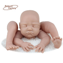 Close Eyes Reborn Baby Doll Kits Suit for 22 Inch 55 CM Life Like BeBe Reborn Blank Kits Soft Vinyl Material Reborn Kits
