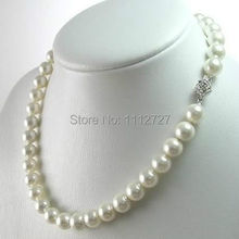 Charming!8-9mm White Akoya Cultured Pearl Necklace Beads Jewelry Natural Stone 17''BV133 Wholesale Price