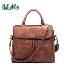 HaluwinNYF women handbags casual tote style big business solid bag versatile premium leather lady bags shoulder office factory
