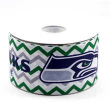 75mm Grosgrain Ribbon Rugby Football Seattle Seahawks Printed Ribbon Handmade Sports Webbing 50 Yards MD150917-25-2155(China)