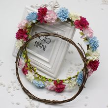 1pcs/lot  Cheap Garland Green Leaf Artificial Flower Vines Natural Dried Branches Rattan Wreath DIY material Wedding Decoration