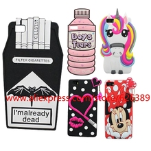 Hot Sale 3D Stitch Unicorn Fires Cigarettes Lips Minnie Mouse 3D Silicone Soft Case Cover For Huawei Ascend P8 Lite Cases