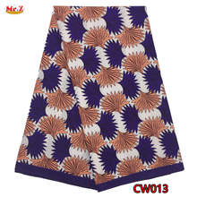 Mr.Z High Density Wax Fabric Embroidered 100% Cotton Prints Wax For African 6Yards(China)